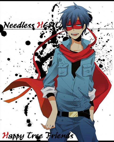 Tags: Anime, Pixiv Id 2806478, Happy Tree Friends, NEEDLESS, Splendid (HTF), Needless Hero, Pixiv, Fanart