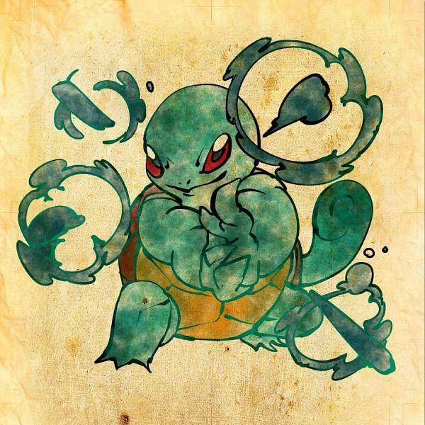 Tags: Anime, Shimanoko, Pokémon, Squirtle, Nihonga, Pixiv, Fanart