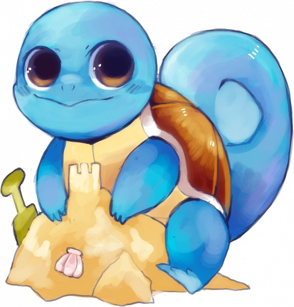 Tags: Anime, suikuzu, Pokémon, Squirtle, Shovel, Fanart