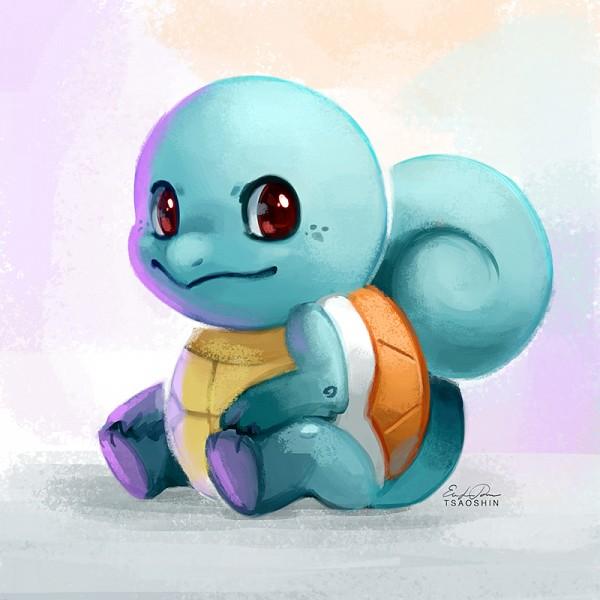 Tags: Anime, TsaoShin, Pokémon, Squirtle, Fanart From DeviantART, Fanart, PNG Conversion, deviantART, Revision