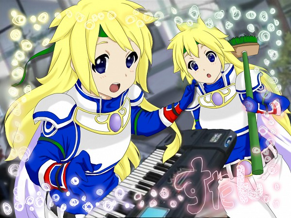 Tags: Anime, Pixiv Id 1010666, Namco, Tales of Destiny, Stahn Aileron, Keyboard (Instrument), K-ON! (Parody), K-ON! Character Design