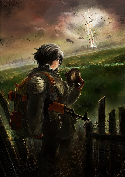 Tags: Anime, RAGNARÖK ONLINE, Stalker (Ragnarok Online), Assault Rifle, Barbed Wire
