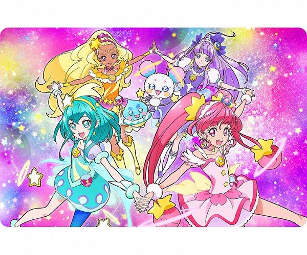 Tags: Anime, Takahashi Akira, Toei Animation, Star☆Twinkle Precure, Cure Milky, Hagorumo Lala, Cure Star, Prunce, Hoshina Hikaru, Fuwa (Precure), Cure Selene, Kaguya Madoka, Cure Soleil