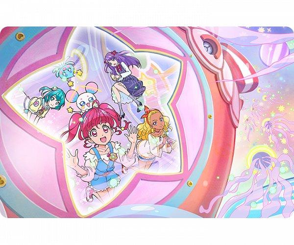 Tags: Anime, Takahashi Akira, Toei Animation, Star☆Twinkle Precure, Fuwa (Precure), Kaguya Madoka, Amamiya Erena, Hagorumo Lala, Prunce, Hoshina Hikaru, Spaceship, Official Art