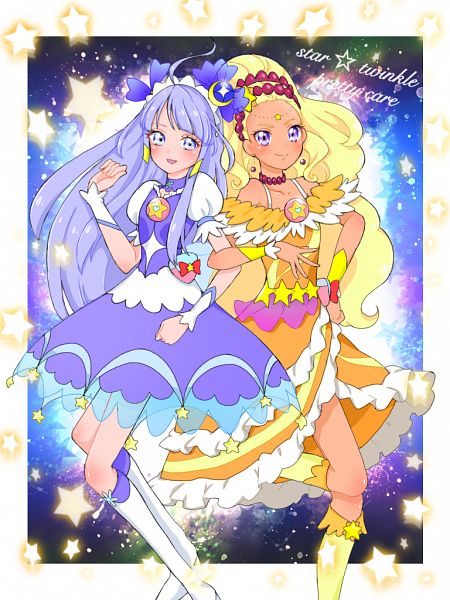 Tags: Anime, Pixiv Id 32013370, Star☆Twinkle Precure, Cure Soleil, Kaguya Madoka, Amamiya Erena, Cure Selene, Pixiv, Fanart, Fanart From Pixiv