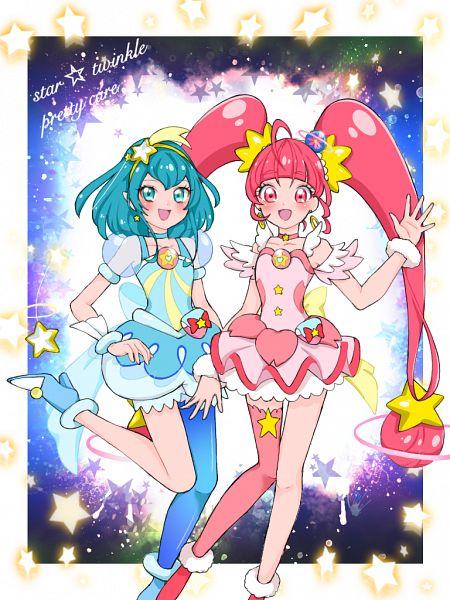 Tags: Anime, Pixiv Id 32013370, Star☆Twinkle Precure, Hoshina Hikaru, Cure Milky, Cure Star, Hagoromo Lala, Fanart From Pixiv, Pixiv, Fanart
