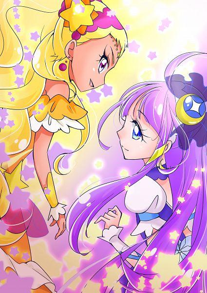 Tags: Anime, Pixiv Id 19209155, Star☆Twinkle Precure, Amamiya Erena, Cure Selene, Cure Soleil, Kaguya Madoka, Pixiv, Fanart, Fanart From Pixiv