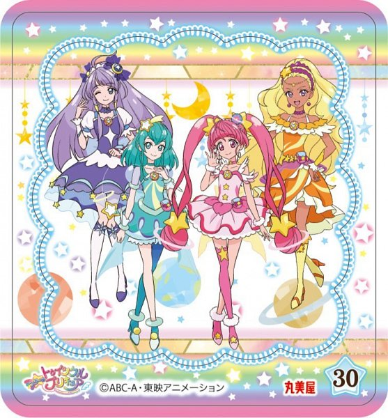 Tags: Anime, Star☆Twinkle Precure, Hagorumo Lala, Cure Star, Hoshina Hikaru, Cure Selene, Kaguya Madoka, Cure Soleil, Amamiya Erena, Cure Milky, Official Art