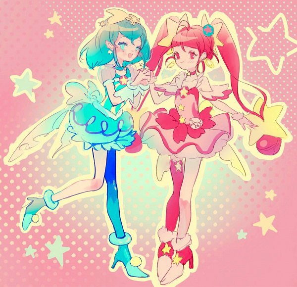 Tags: Anime, waki_02, Star☆Twinkle Precure, Cure Milky, Cure Star, Hagoromo Lala, Hoshina Hikaru, Twitter, Fanart