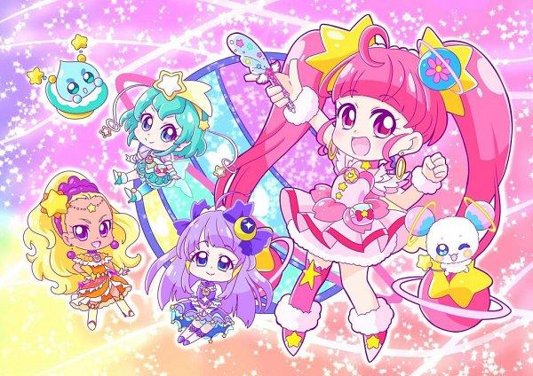 Tags: Anime, Pixiv Id 3098104, Star☆Twinkle Precure, Kaguya Madoka, Cure Soleil, Amamiya Erena, Cure Milky, Hagorumo Lala, Cure Star, Prunce, Hoshina Hikaru, Fuwa (Precure), Cure Selene