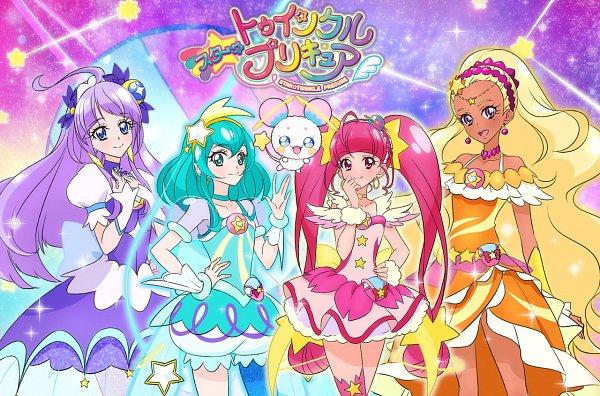 Tags: Anime, cnove, Star☆Twinkle Precure, Fuwa (Precure), Cure Selene, Kaguya Madoka, Cure Soleil, Amamiya Erena, Cure Milky, Hagorumo Lala, Cure Star, Hoshina Hikaru, Fanart