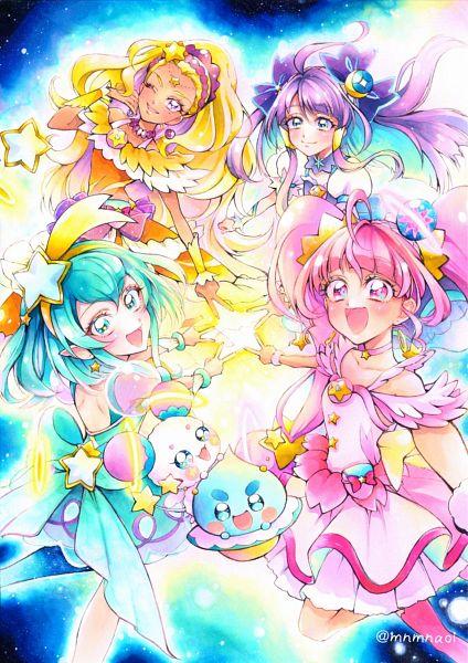 Tags: Anime, Pixiv Id 4996595, Star☆Twinkle Precure, Hagorumo Lala, Cure Star, Prunce, Hoshina Hikaru, Fuwa (Precure), Cure Selene, Kaguya Madoka, Cure Soleil, Amamiya Erena, Cure Milky
