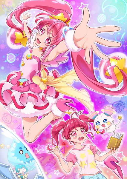 Tags: Anime, 0417nao, Star☆Twinkle Precure, Cure Star, Prunce, Fuwa (Precure), Hagoromo Lala, Hoshina Hikaru, Fanart, Fanart From Pixiv, Pixiv