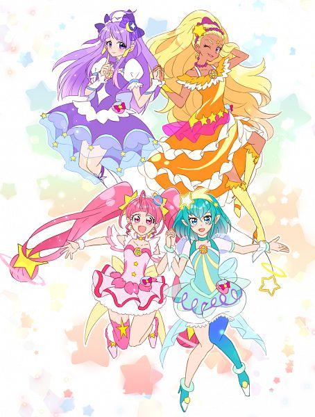 Tags: Anime, Pixiv Id 356388, Star☆Twinkle Precure, Amamiya Erena, Cure Milky, Hagorumo Lala, Cure Star, Hoshina Hikaru, Cure Selene, Kaguya Madoka, Cure Soleil, Pixiv, Fanart