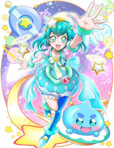 Tags: Anime, Pixiv Id 1059771, Star☆Twinkle Precure, Prunce, Hagorumo Lala, Cure Milky, Aqua Dress, Pixiv, Fanart, Fanart From Pixiv