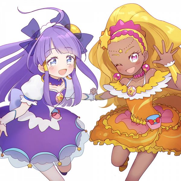 Tags: Anime, Pixiv Id 3211972, Star☆Twinkle Precure, Cure Selene, Cure Soleil, Kaguya Madoka, Amamiya Erena, Pixiv, Fanart, Fanart From Pixiv