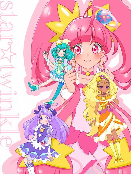 Tags: Anime, Pixiv Id 32013370, Star☆Twinkle Precure, Cure Selene, Kaguya Madoka, Cure Soleil, Amamiya Erena, Cure Milky, Hagoromo Lala, Cure Star, Hoshina Hikaru, Fanart From Pixiv, Pixiv