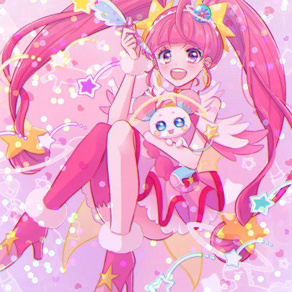 Tags: Anime, Pixiv Id 38329159, Star☆Twinkle Precure, Fuwa (Precure), Hoshina Hikaru, Cure Star, Fanart From Pixiv, Pixiv, Fanart