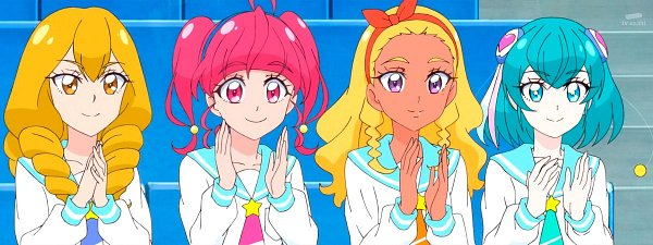 Tags: Anime, Star☆Twinkle Precure, Hoshina Hikaru, Himenojou Sakurako, Amamiya Erena, Hagoromo Lala, Screenshot