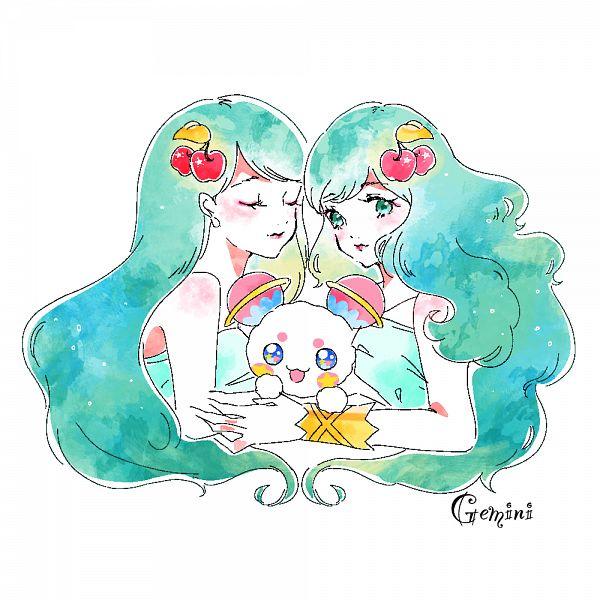 Tags: Anime, Pixiv Id 31449680, Star☆Twinkle Precure, Fuwa (Precure), Princess Gemini, Zodiac (Personification), Pixiv, Fanart, Fanart From Pixiv