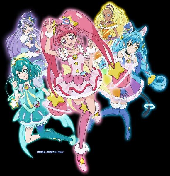 Tags: Anime, Toei Animation, Star☆Twinkle Precure, Amamiya Erena, Cure Milky, Hagoromo Lala, Cure Star, Yuni (Precure), Hoshina Hikaru, Cure Cosmo, Cure Selene, Kaguya Madoka, Cure Soleil