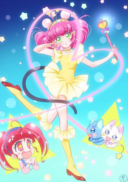 Tags: Anime, Pixiv Id 19209155, Star☆Twinkle Precure, Mao (Precure), Prunce, Fuwa (Precure), Yuni (Precure), Hoshina Hikaru, Creamy Mami (Cosplay), Fanart From Pixiv, Pixiv, Fanart