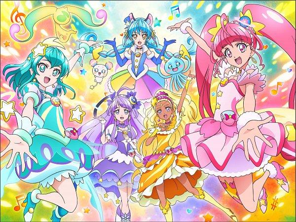 Tags: Anime, Toei Animation, Star☆Twinkle Precure, Cure Milky, Cure Cosmo, Hagorumo Lala, Cure Star, Prunce, Hoshina Hikaru, Fuwa (Precure), Cure Selene, Yuni (Precure), Kaguya Madoka