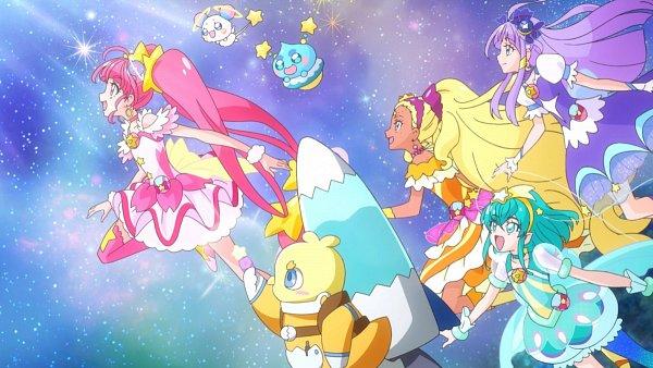 Tags: Anime, Toei Animation, Star☆Twinkle Precure, Precure All Stars, Hagoromo Lala, Cure Star, Prunce, Hoshina Hikaru, Fuwa (Precure), Cure Selene, Kaguya Madoka, Cure Soleil, Amamiya Erena