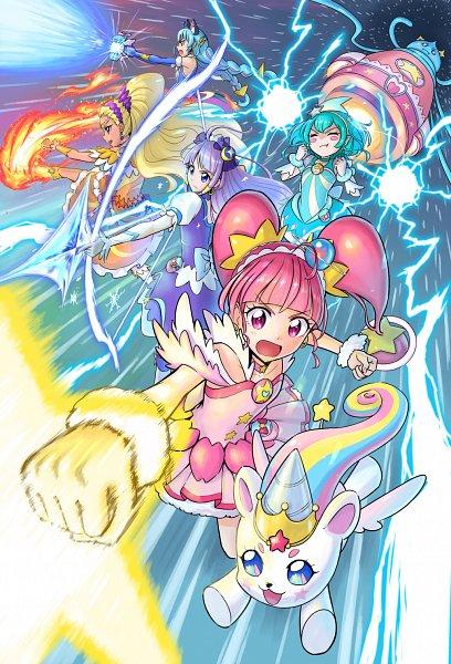 Tags: Anime, Pixiv Id 23816107, Star☆Twinkle Precure, Cure Soleil, Yuni (Precure), Amamiya Erena, Cure Milky, Cure Cosmo, Hagorumo Lala, Cure Star, Prunce, Hoshina Hikaru, Fuwa (Precure)