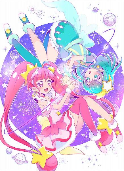 Tags: Anime, Juugoya Neko, Star☆Twinkle Precure, Cure Star, Hagoromo Lala, Hoshina Hikaru, Cure Milky, Pixiv, Fanart, Twitter, Fanart From Pixiv