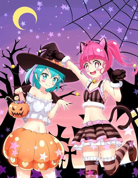 Tags: Anime, Pixiv Id 28985126, Star☆Twinkle Precure, Hagoromo Lala, Hoshina Hikaru, Fanart From Pixiv, Pixiv, Fanart