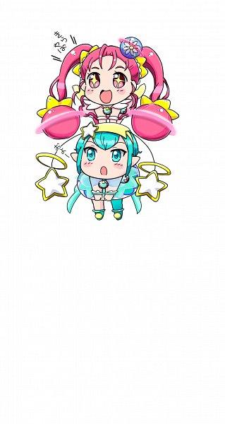 Tags: Anime, Pixiv Id 14953800, Star☆Twinkle Precure, Hoshina Hikaru, Cure Milky, Cure Star, Hagoromo Lala, Pixiv, Fanart, Fanart From Pixiv