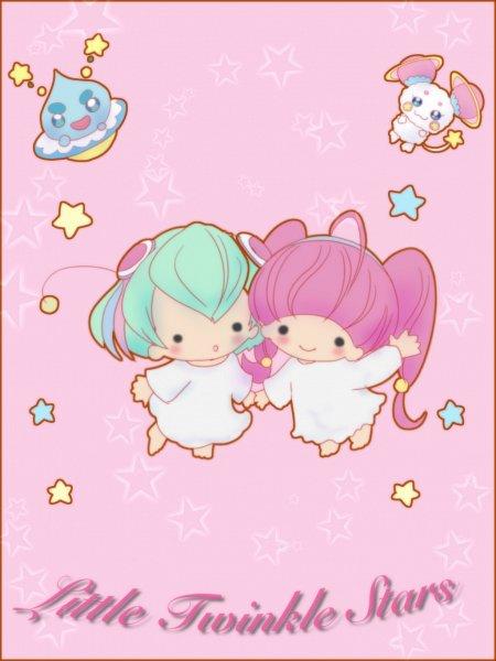 Tags: Anime, Pixiv Id 1430057, Star☆Twinkle Precure, Fuwa (Precure), Hagoromo Lala, Hoshina Hikaru, Prunce, Fanart From Pixiv, Pixiv, Fanart
