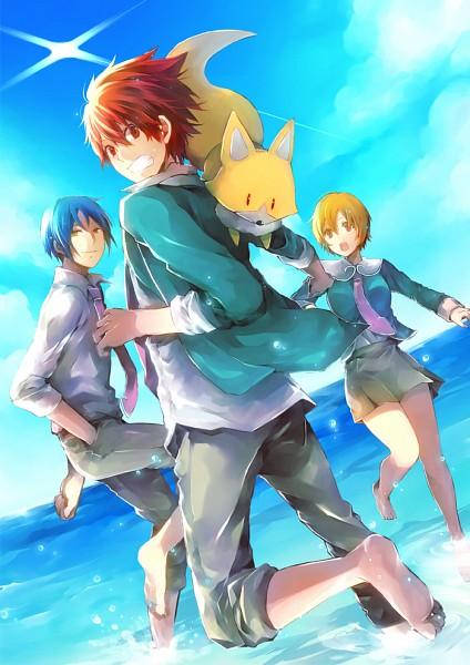 Tags: Anime, MELO (Pixiv3603676), Star Driver, Fukubuchou, Shindou Sugata, Tsunashi Takuto, Agemaki Wako, Pixiv, Mobile Wallpaper