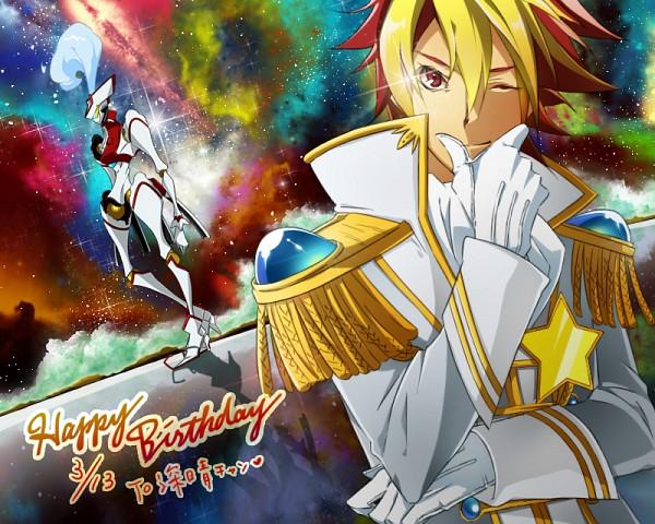 Tags: Anime, Seri (pixiv1454808), Star Driver, Tsunashi Takuto, Ginga Bishounen, Tauburn, Pixiv, Fanart