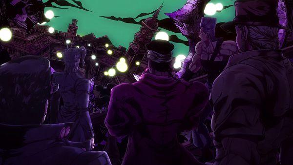 Tags: Anime, david production, JoJo no Kimyou na Bouken, Stardust Crusaders, Mohammed Avdol, Kuujou Joutarou, Joseph Joestar, Jean Pierre Polnareff, Kakyoin Noriaki, Traveling, Screenshot