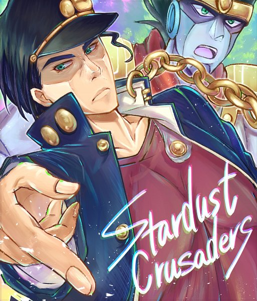 Tags: Anime, Pixiv Id 10038630, JoJo no Kimyou na Bouken, Stardust Crusaders, Star Platinum, Kuujou Joutarou, Fanart From Pixiv, Pixiv, Fanart