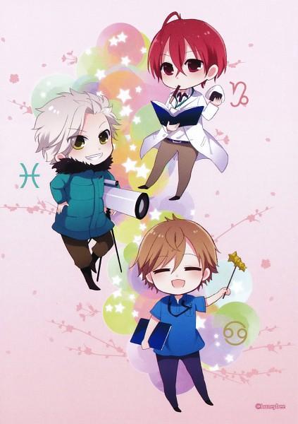 Tags: Anime, Starry☆Sky~, Tohzuki Suzuya, Tomoe Yoh, Nanami Kanata (Starry☆Sky), Mobile Wallpaper, Starry☆Sky ~in Spring~