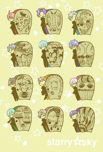Tags: Anime, Starry☆Sky~, Miyaji Ryunosuke, Hoshizuki Kotarou, Nanami Kanata (Starry☆Sky), Amaha Tsubasa, Kanakubo Homare, Tohzuki Suzuya, Iku Mizushima, Shiranui Kazuki, Haruki Naoshi, Tomoe Yoh, Kinose Azusa