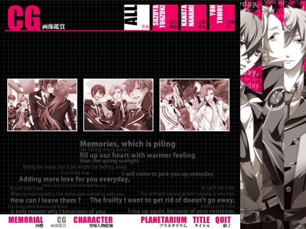 Tags: Anime, Starry☆Sky~, Nanami Kanata (Starry☆Sky), Yahisa Tsukiko, Tohzuki Suzuya, Tomoe Yoh, CG Art, Starry☆Sky ~in Spring~