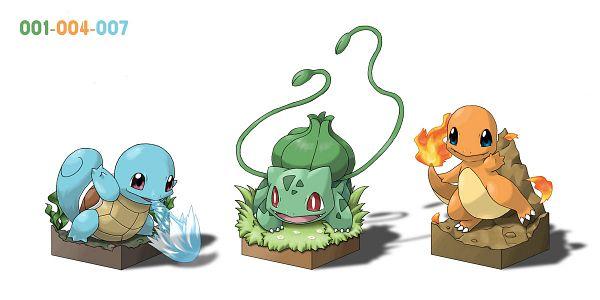 Tags: Anime, Ditb, Pokémon, Charmander, Squirtle, Bulbasaur, Facebook Cover, Pixiv, Fanart, Starter Pokémon