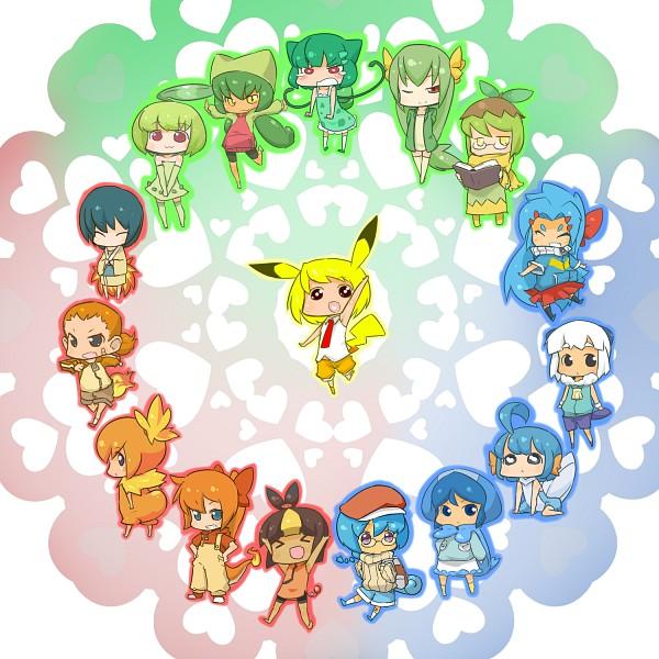 Tags: Anime, Pixiv Id 2289447, Pokémon, Charmander, Tepig, Bulbasaur, Mudkip, Chimchar, Totodile, Squirtle, Treecko, Cyndaquil, Snivy