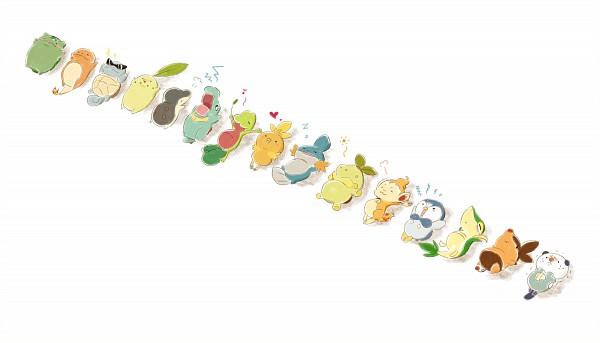 Tags: Anime, Fuki (I800), Pokémon, Totodile, Squirtle, Treecko, Cyndaquil, Snivy, Piplup, Torchic, Chikorita, Oshawott, Turtwig