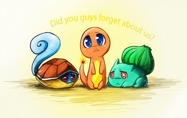 Tags: Anime, Artisticyeh001, Pokémon, Squirtle, Bulbasaur, Charmander, Hiding, deviantART, Fanart, Starter Pokémon