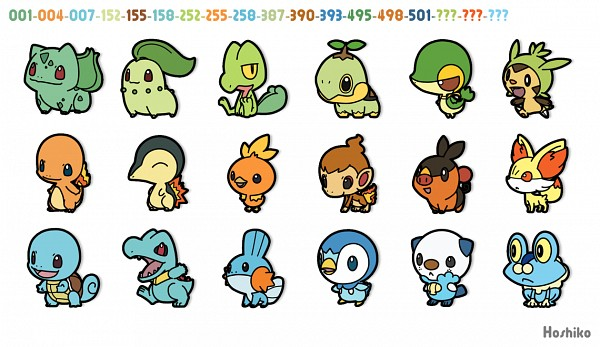 Tags: Anime, Ditb, Pokémon, Cyndaquil, Oshawott, Piplup, Torchic, Froakie, Chikorita, Tepig, Turtwig, Fennekin, Charmander