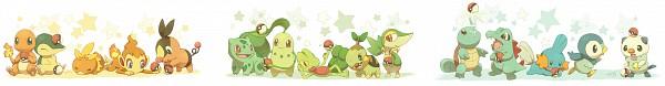 Tags: Anime, Jippe, Pokémon, Charmander, Tepig, Bulbasaur, Mudkip, Chimchar, Totodile, Squirtle, Treecko, Cyndaquil, Snivy
