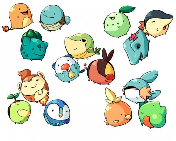 Tags: Anime, Pixiv Id 665777, Pokémon, Totodile, Squirtle, Treecko, Cyndaquil, Snivy, Piplup, Torchic, Chikorita, Oshawott, Turtwig