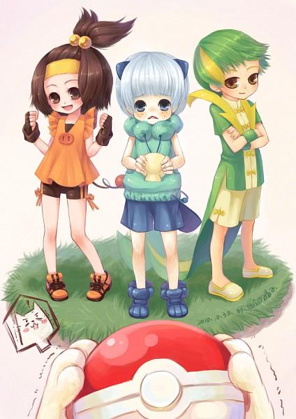Tags: Anime, Sanmi Tenten, Pokémon, Oshawott, Tepig, Snivy, Fanart, Mobile Wallpaper, Pixiv, Starter Pokémon
