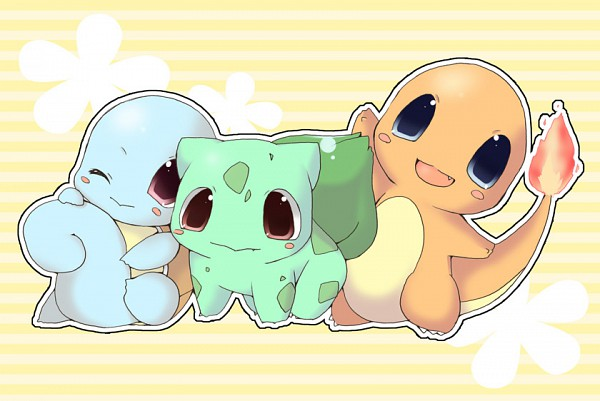 Tags: Anime, Enomoto Hina, Pokémon, Bulbasaur, Charmander, Squirtle, Starter Pokémon
