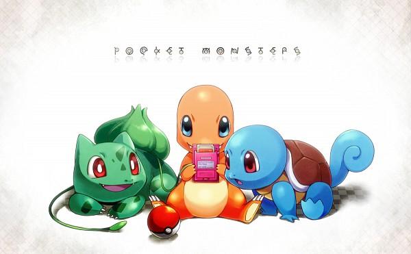Tags: Anime, Pixiv Id 372825, Pokémon, Bulbasaur, Charmander, Squirtle, Unown, Game Boy, Starter Pokémon